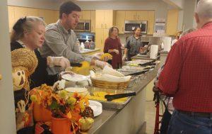 people serving food